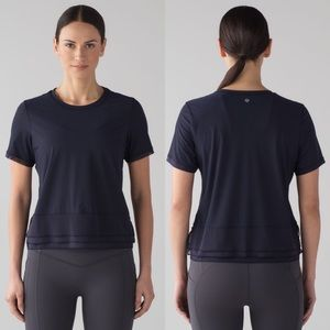Lululemon Sole Training Short Sleeve-Midnight Navy